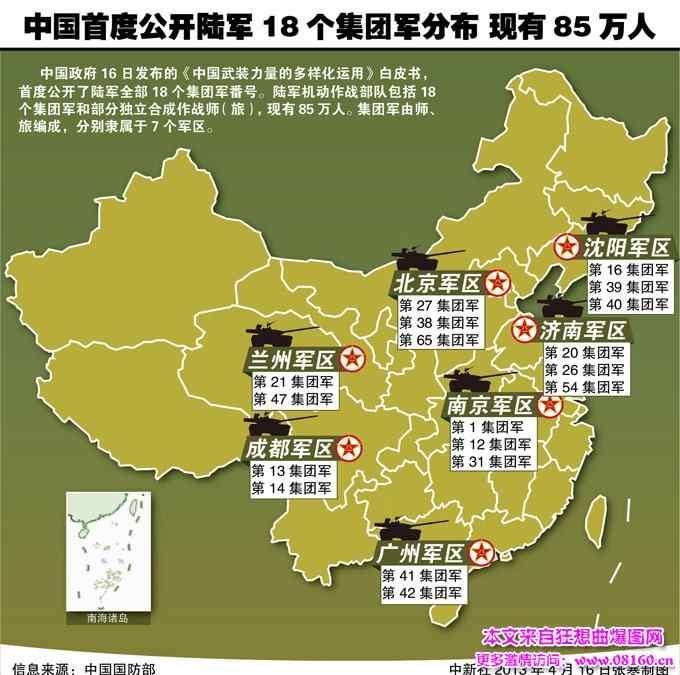七大军区是哪几个军区 解放军几大军区实力排名,解放军大军区领导名单