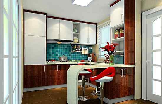 吧台图片 整体厨房小吧台图片大全